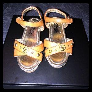 Toddler Girl Micheal Kors Wedge Sandal Size 9